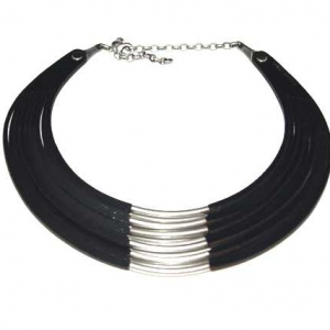 black collar leather necklace