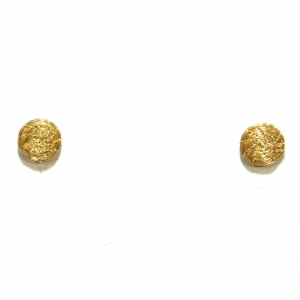 golden grass mini button earrings