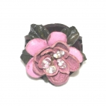 pink leather rose ring