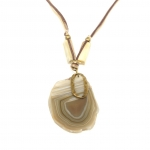 brown agate stone necklace