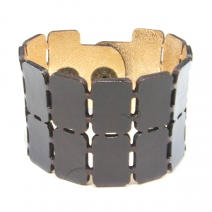brown unisex buckle bracelet