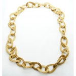 golden grass chain link necklace