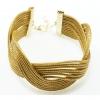 golden grass crisscross bracelet