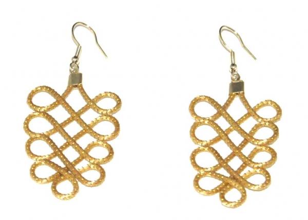 Golden Grass Delhi Earrings