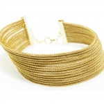 golden grass multiple band bracelet