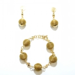 Orb Bracelet and Earrings