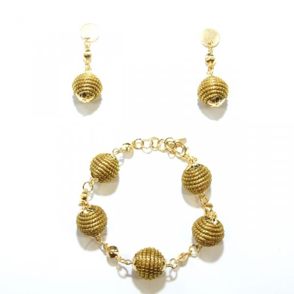 Orb Bracelet and Earrings