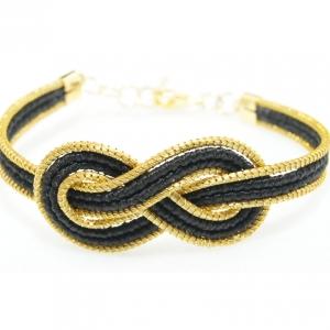 interlocking golden grass bracelet