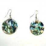 silvery shell earrings