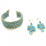 Turquoise Bracelet and Earrings Set