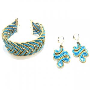 Turquoise Bracelet and Earrings Set