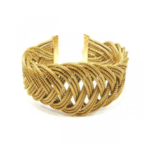 curvy braided cuff bracelet