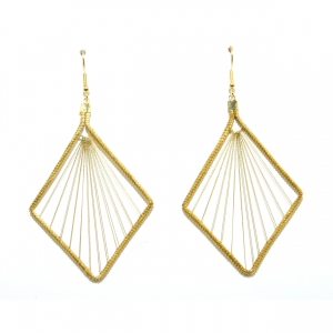 golden grass suspension earring