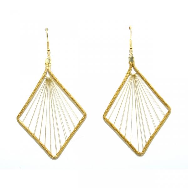 golden grass suspension earring