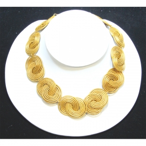 interlocking golden grass choker