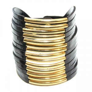 large brown collar bracelet