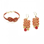 golden grass red swirl set