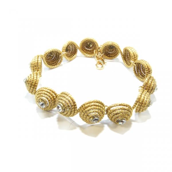 Round Link golden grass Bracelet