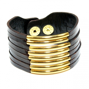 small brown collar bracelet