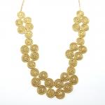 golden grass spiral drop necklace