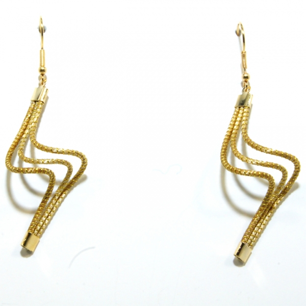 wavy golden grass earrings