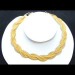 woven golden grass chocker