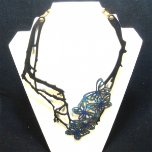 blue five butterfly necklace