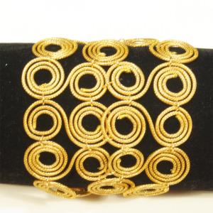 swirl link golden grass cuff bracelet