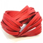 red twist soft leather bracelet