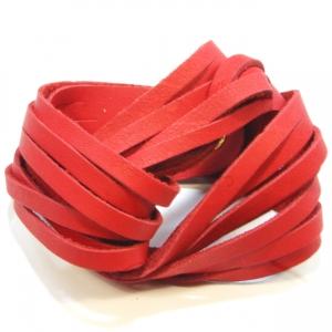 red twist soft leather bracelet