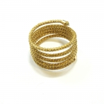 Spiral-shaped golden grass ring