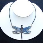 blue leather dragonfly