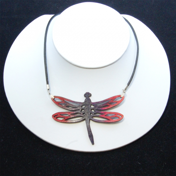 red and black dragonfly