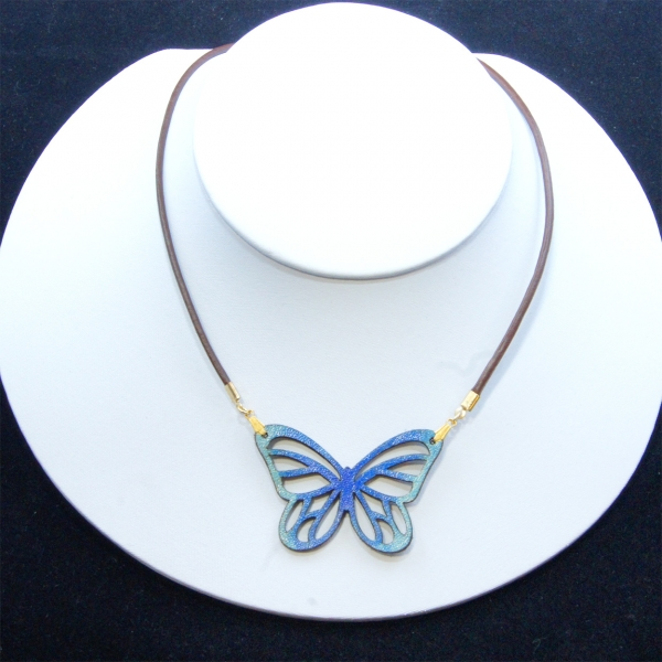 blue mini-monarch necklace