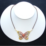 yellow mini-monarch necklace
