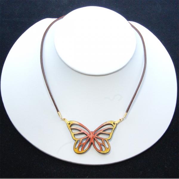yellow mini-monarch necklace