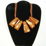 geometric wood necklace
