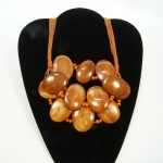 oval wood and bead
